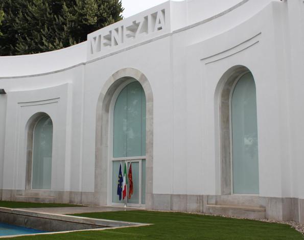 Facciata del Padiglione Venezia ai Giardini della Biennale | Studio CandC